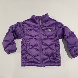 The North Face 550 girls Down Puffer 3T Purple.